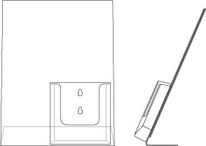 L standaard A4 met 1/3A4 folderhouder